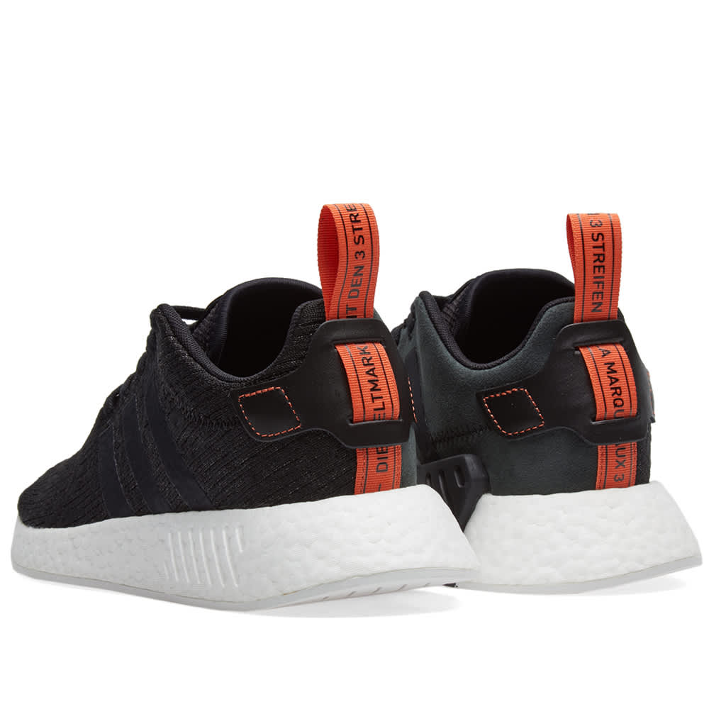 Adidas NMD_R2 Core Black & Future Harvest | END.
