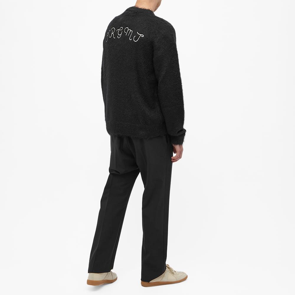 7 Moncler FRGMT Hiroshi Fujiwara  Logo Crew Knit - Black