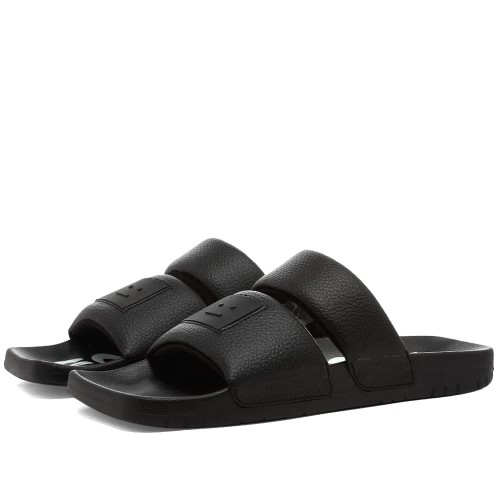 Acne Studios Bode M Face Sandal - Black