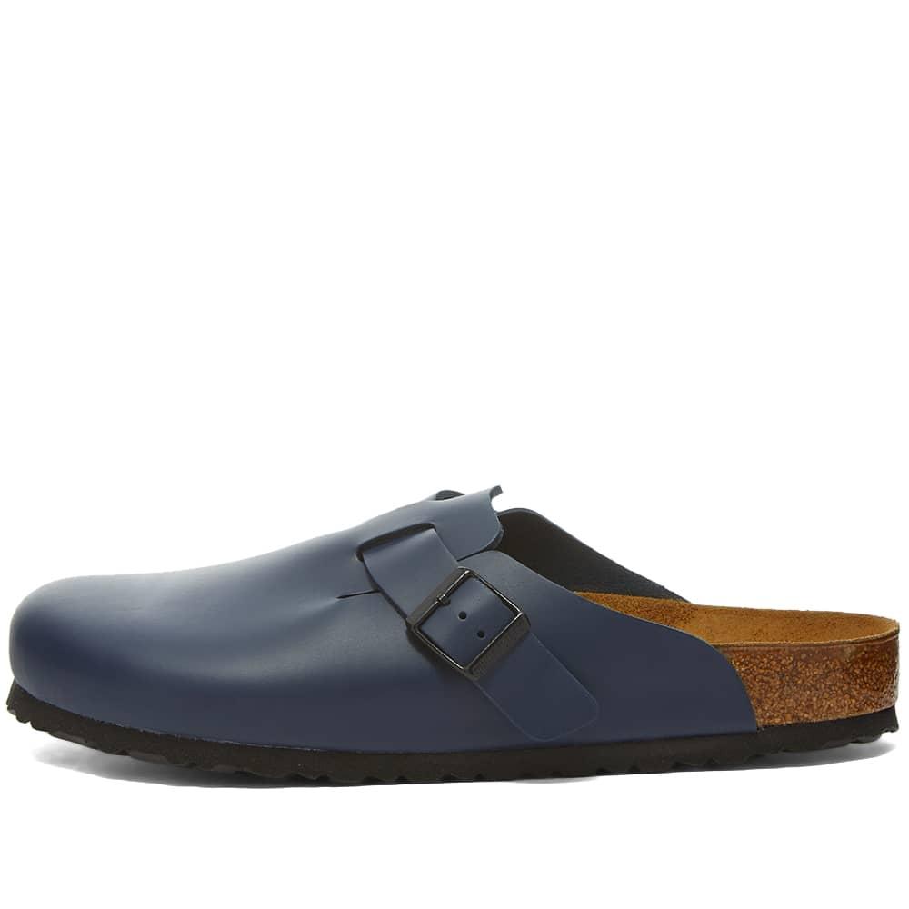 Birkenstock Boston - Blue Smooth Leather