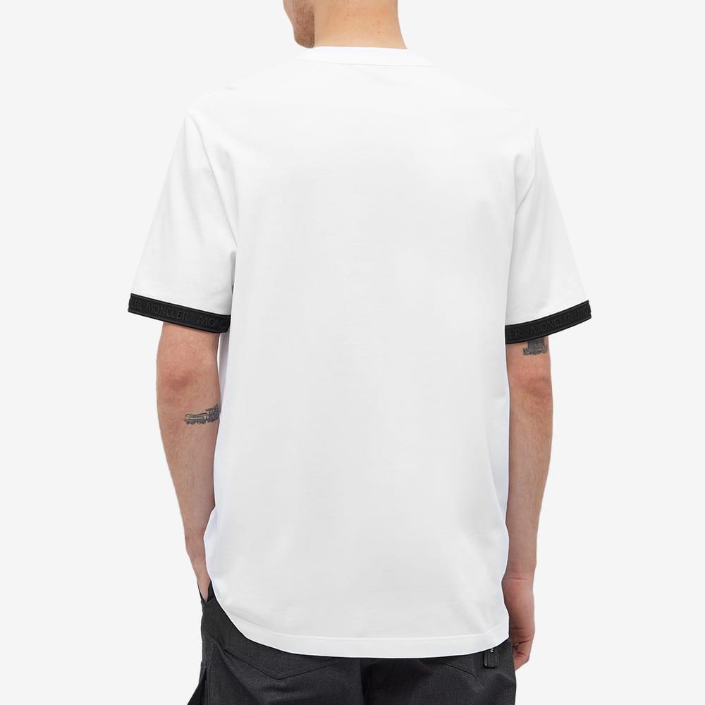 Moncler Sleeve Taping Logo Tee - White
