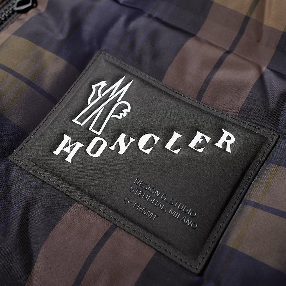 7 Moncler FRGMT Hiroshi Fujiwara Worren Blackwatch Tartan Gilet - Black