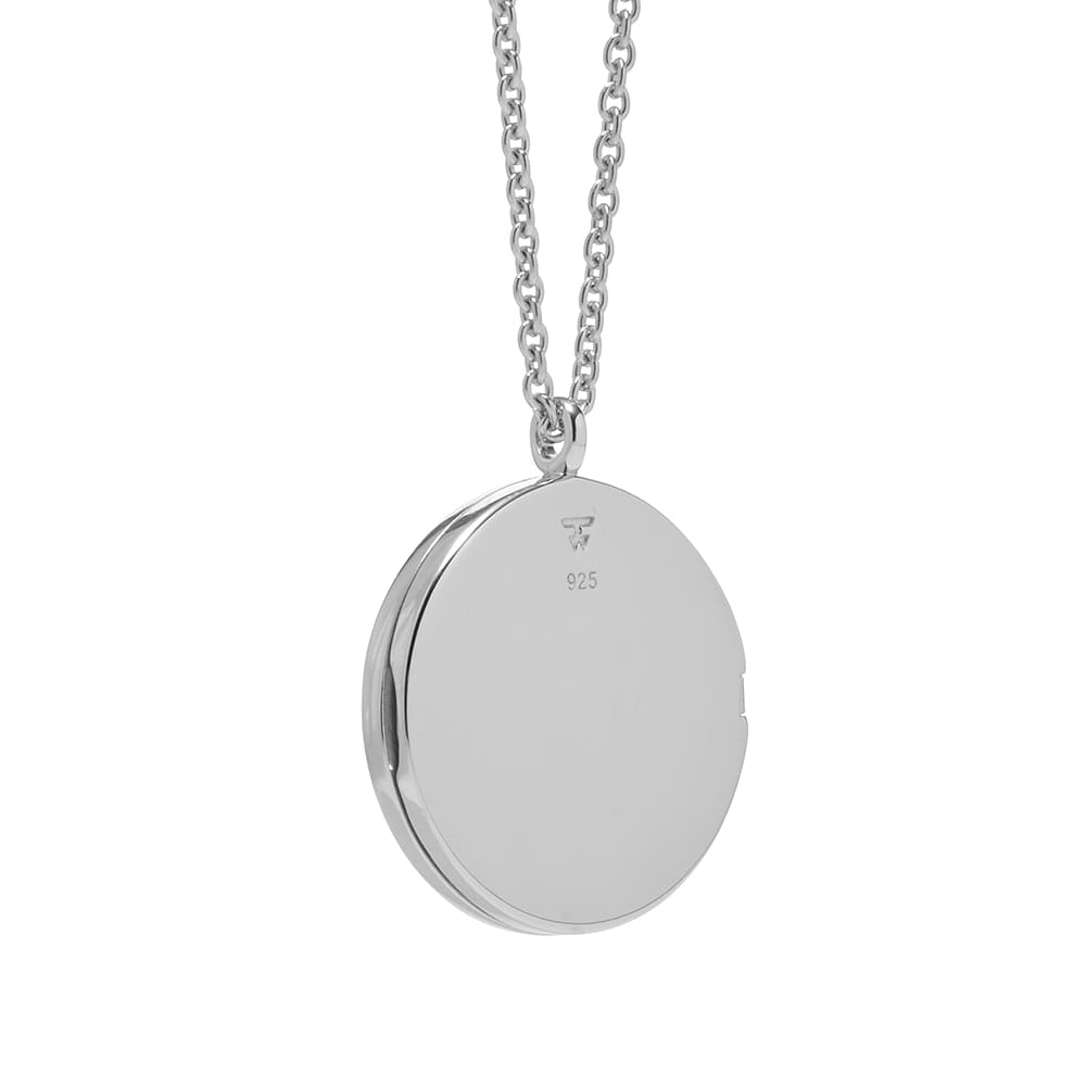 Tom Wood Medallion Necklace - Silver