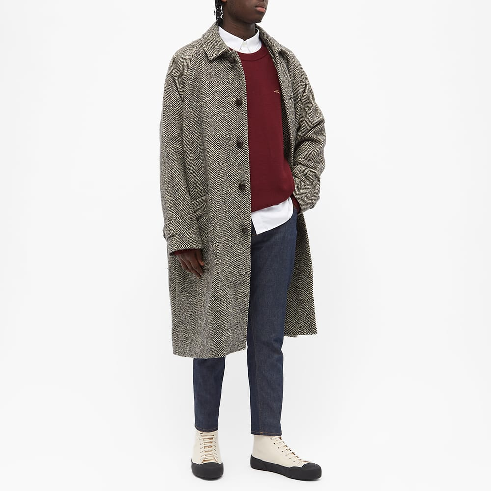 Acne Studios Oglan Wool Herringbone Coat - Black & Ecru