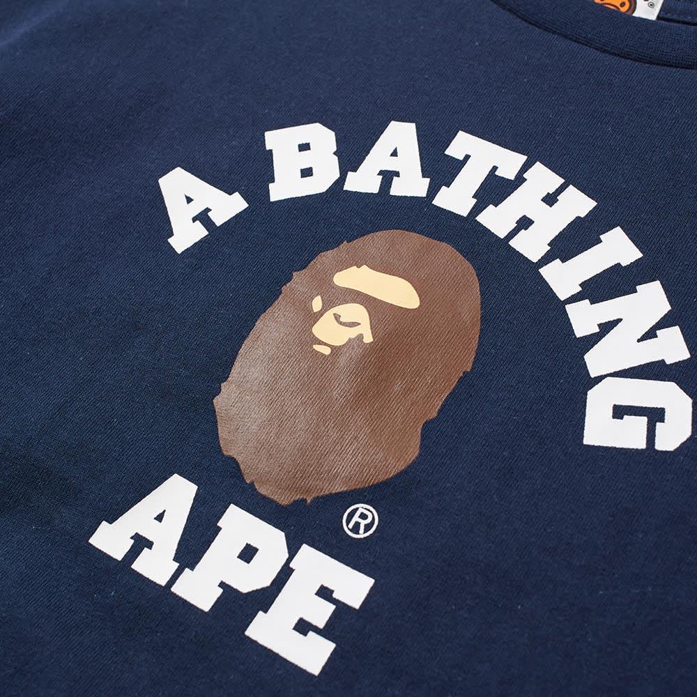 A Bathing Ape Kids College Tee - Navy