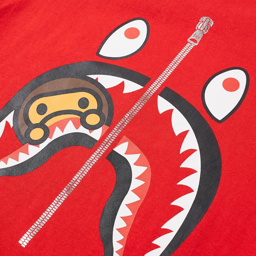 A Bathing Ape Kids Milo Shark Tee - Red