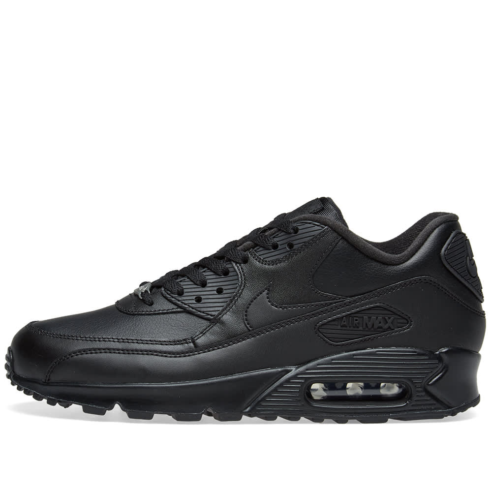 Nike Air Max 90 Leather Black | END.