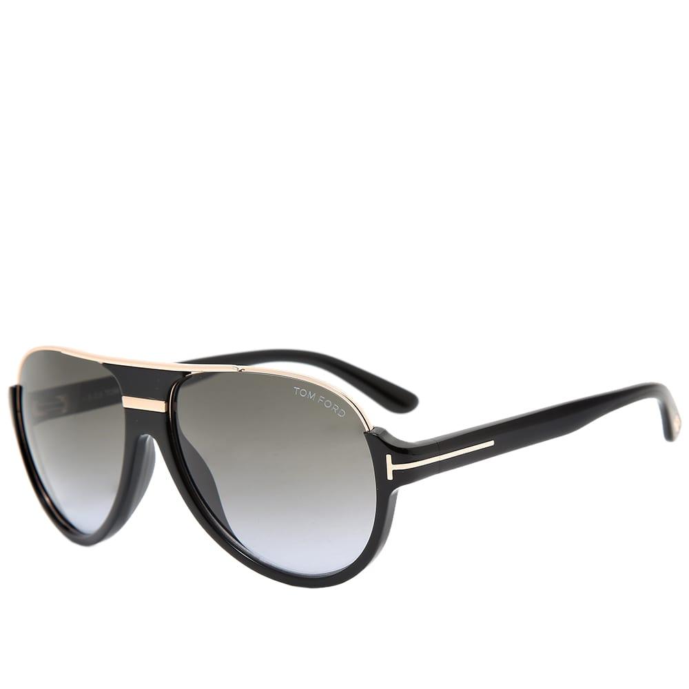 Tom Ford FT0334 Dimitry Sunglasses - Shiny Black & Gradient Green