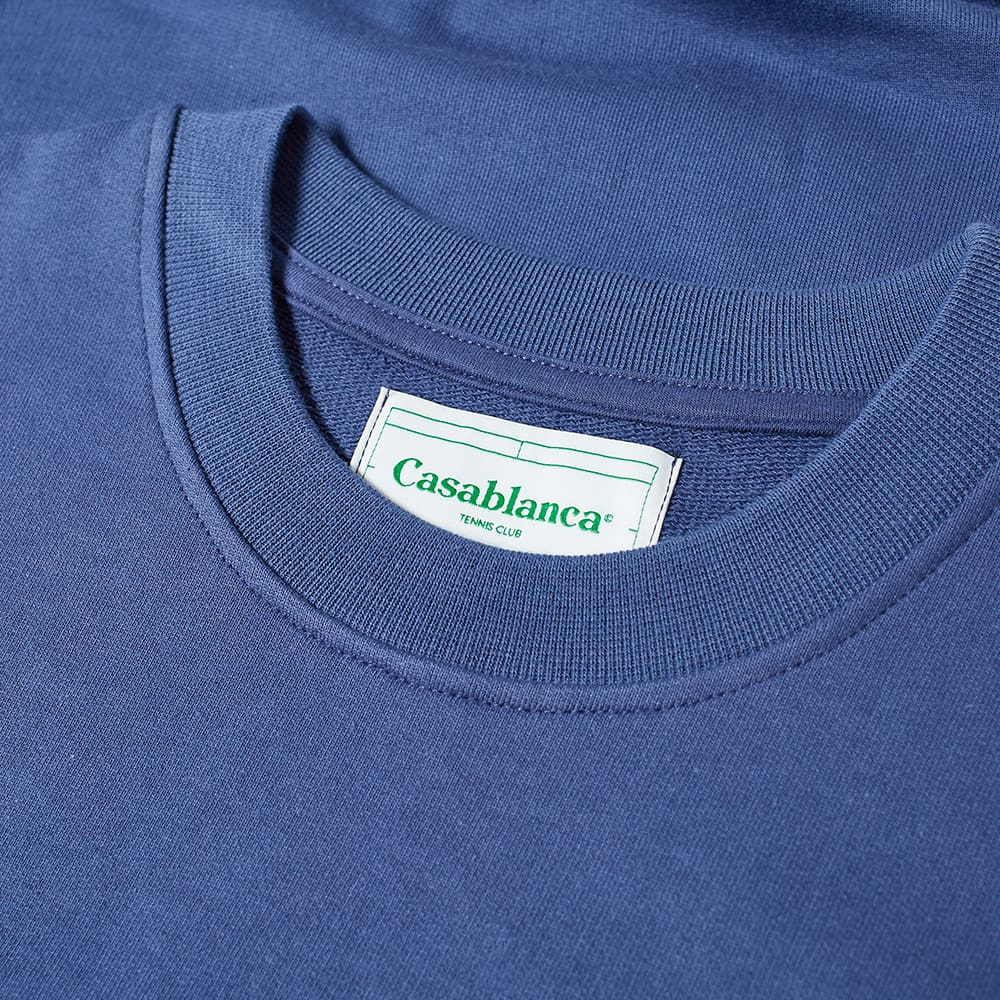 Casablanca Arch Logo Crew Sweat - Blue