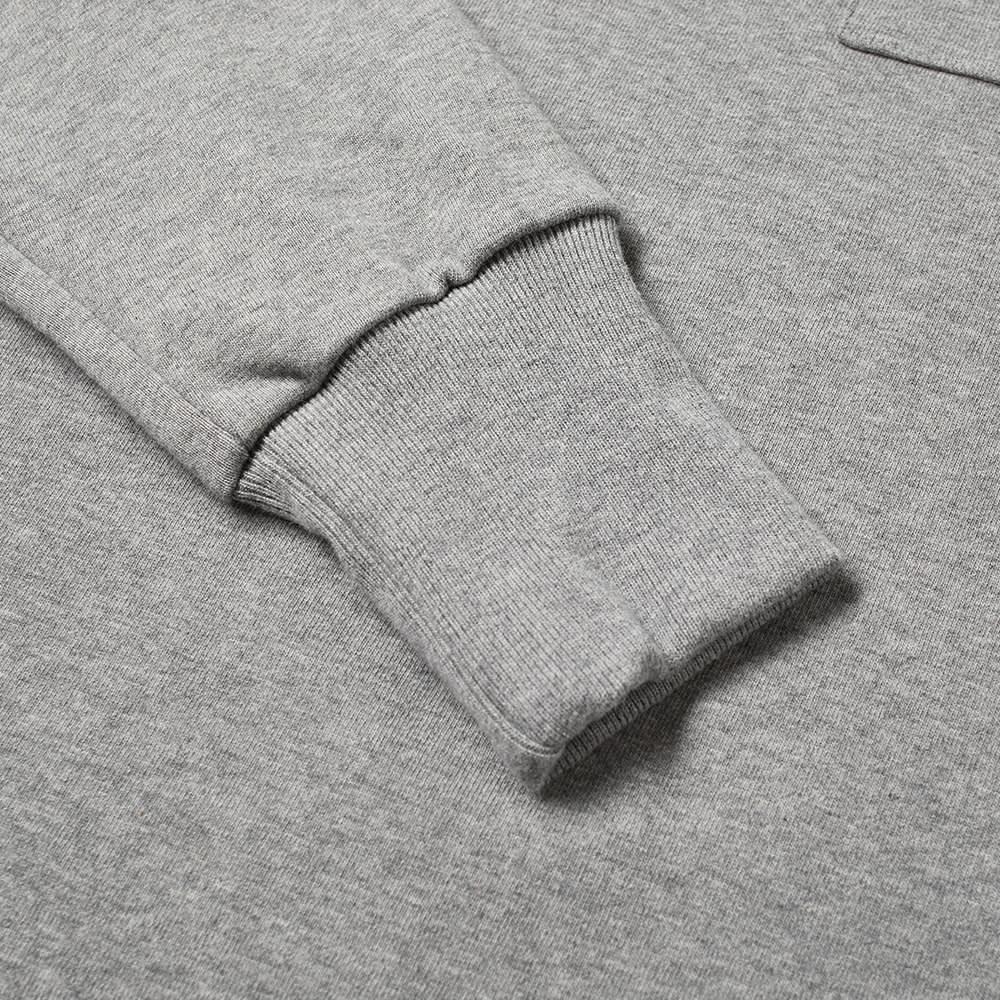 Aimé Leon Dore Long Sleeve Mock Neck Dimebag Tee - Heather Grey