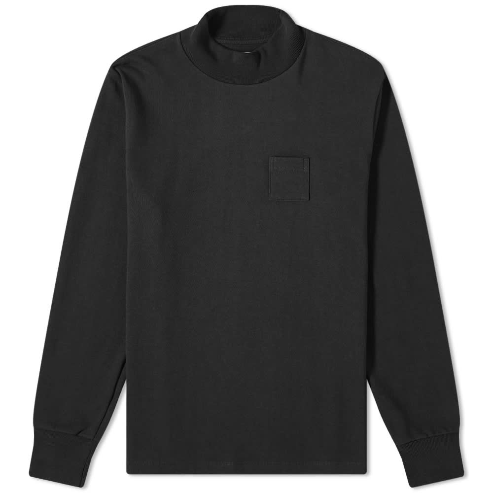 Aimé Leon Dore Long Sleeve Mock Neck Dimebag Tee - Jet Black