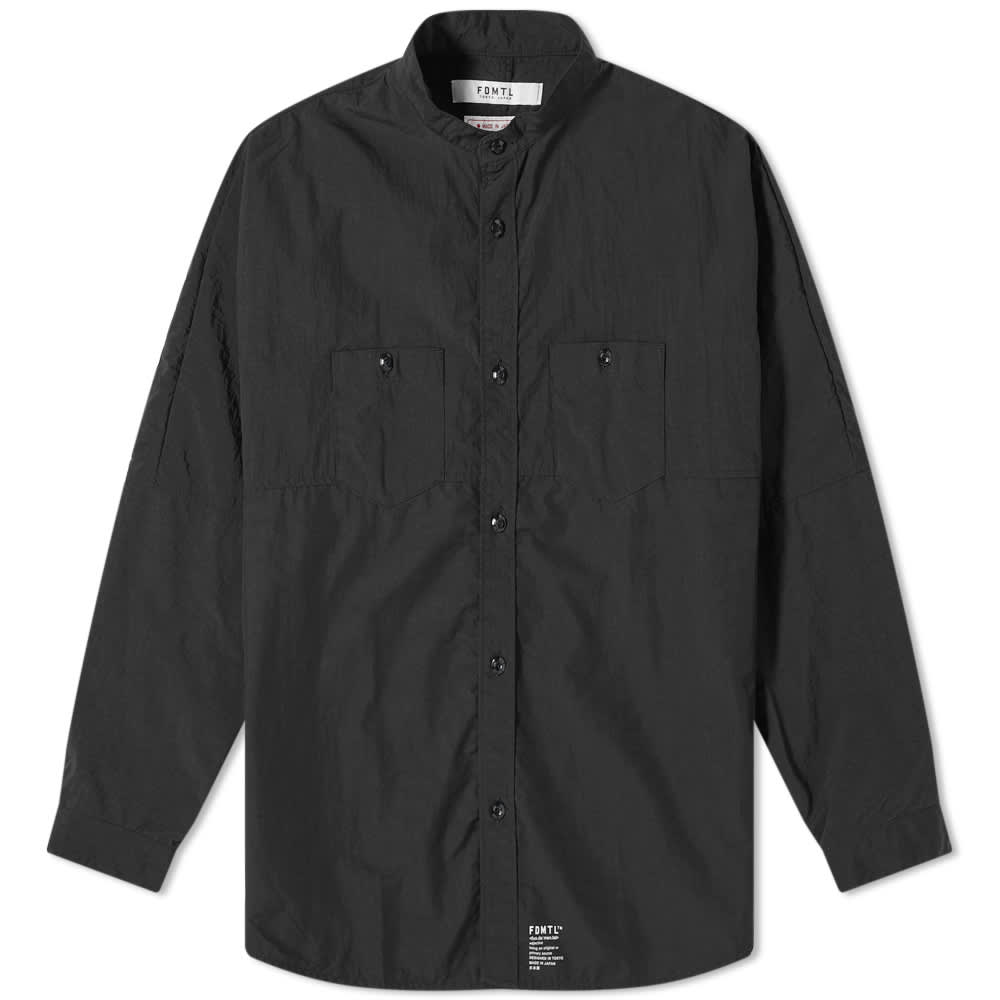 FDMTL Side Zip Oversized Shirt - Black