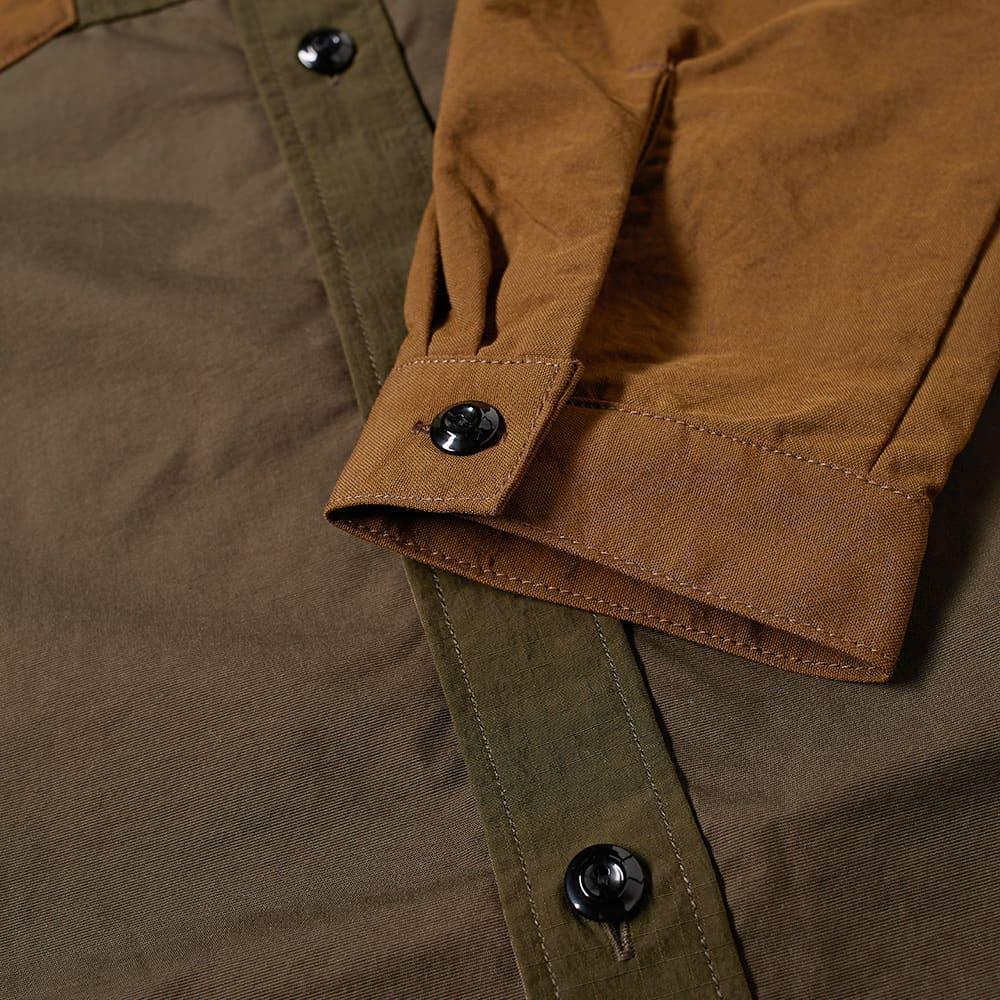 FDMTL Side Zip Oversized Shirt - Khaki