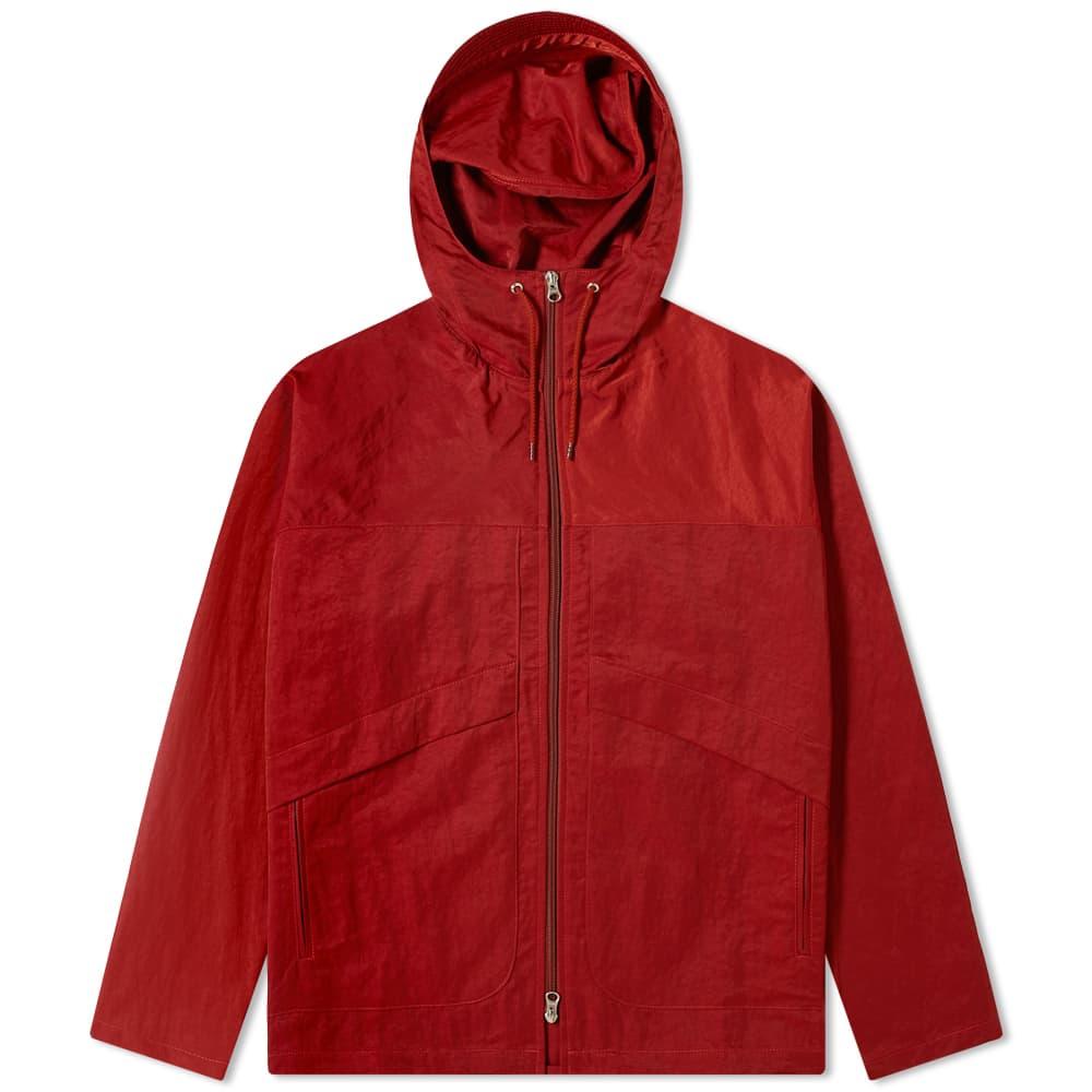 Très Bien Nylon Hooded Jacket - Rust