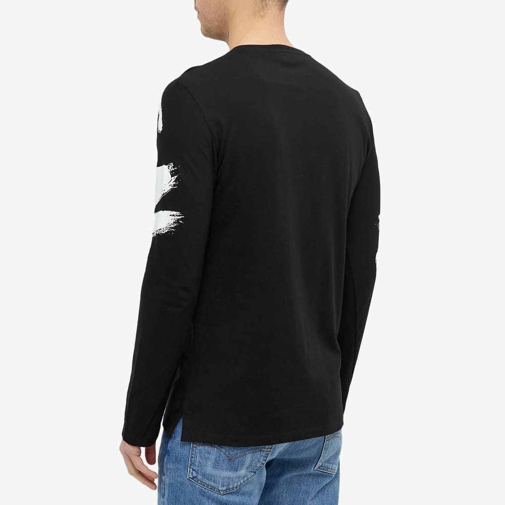 Alexander McQueen Long Sleeve Graffiti Logo Tee - Black & Multi