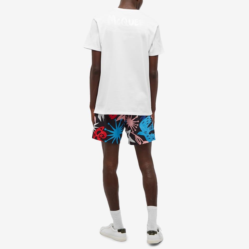 Alexander McQueen Graffiti Back Logo Tee - White & Multi
