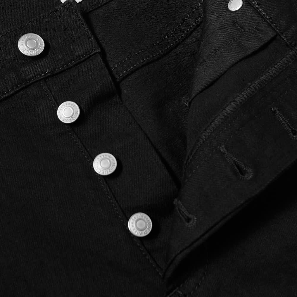 Alexander McQueen Embroidered Graffiti Logo Jean - Black