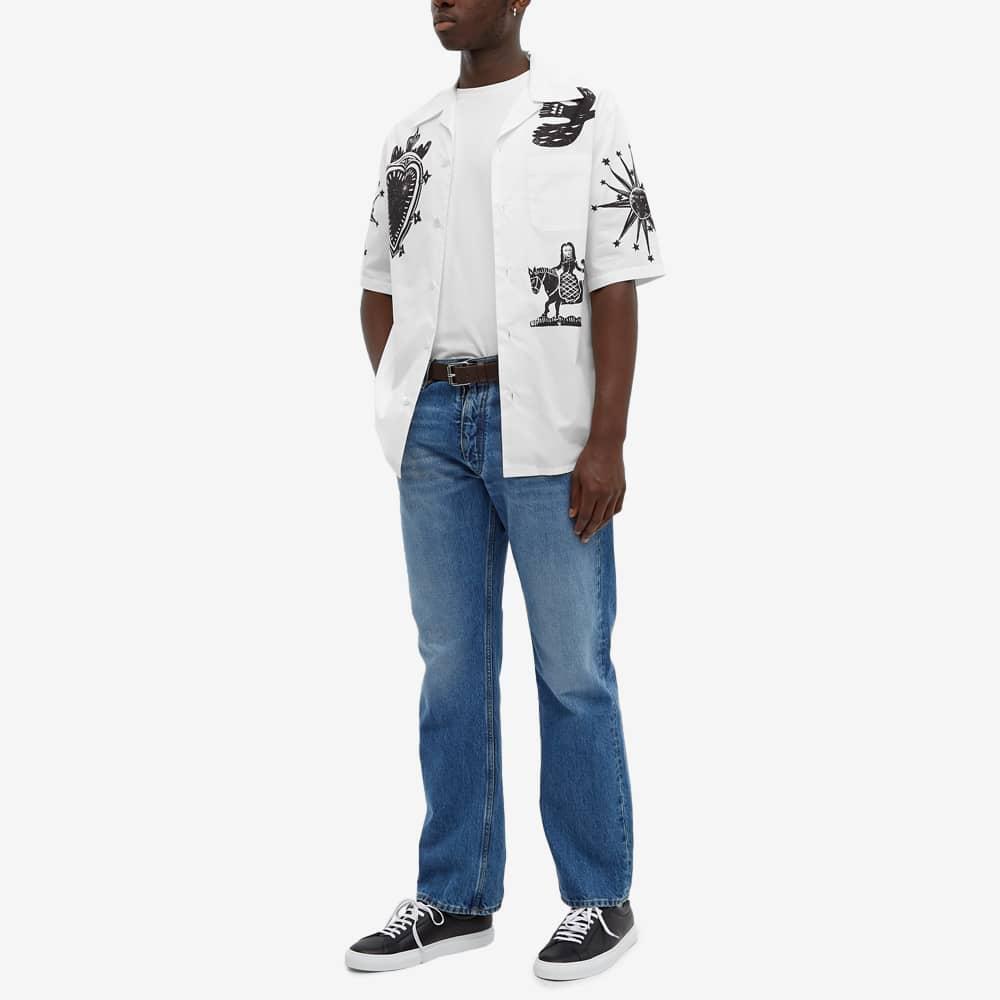 Alexander McQueen Printed Vacation Shirt - White & Black