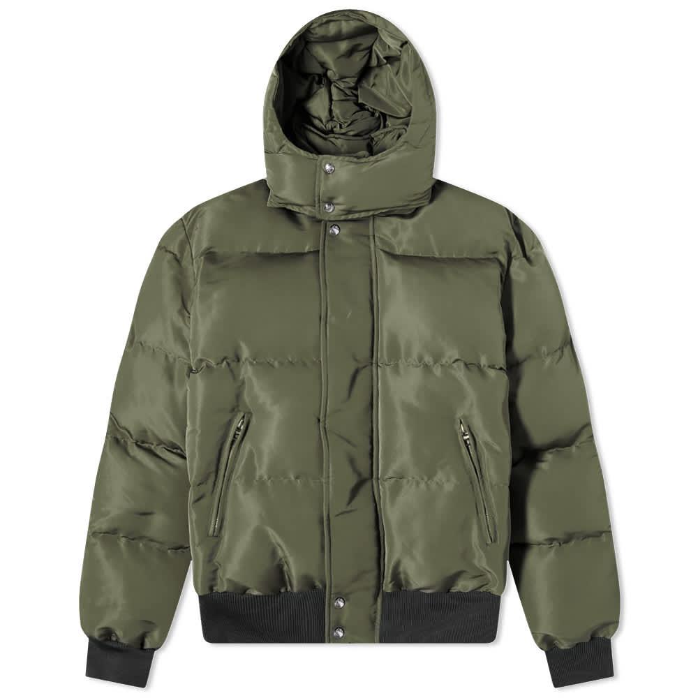 Alexander McQueen Graffiti Back Logo Puffer Jacket - Khaki