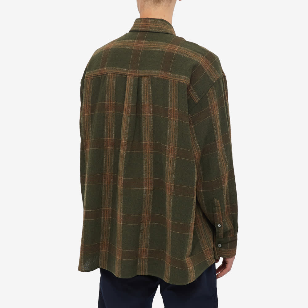 Our Legacy Borrowed Button Down Check Shirt - Green Columbia Check