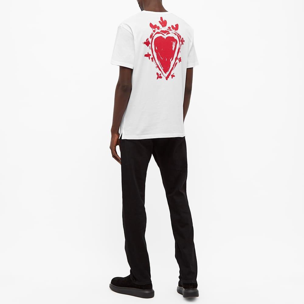 Alexander McQueen Heart Print Tee - White & Multi
