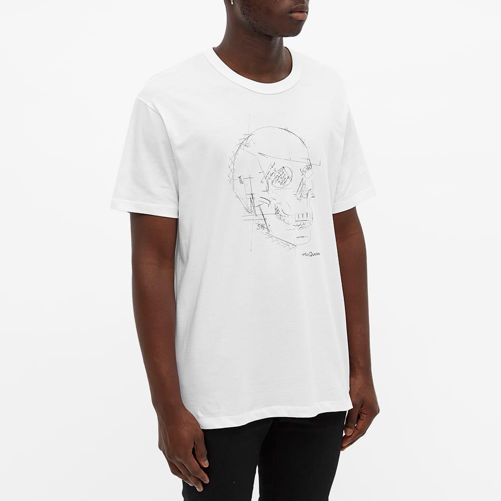 Alexander McQueen Sketch Skull Logo Tee - White & Multi