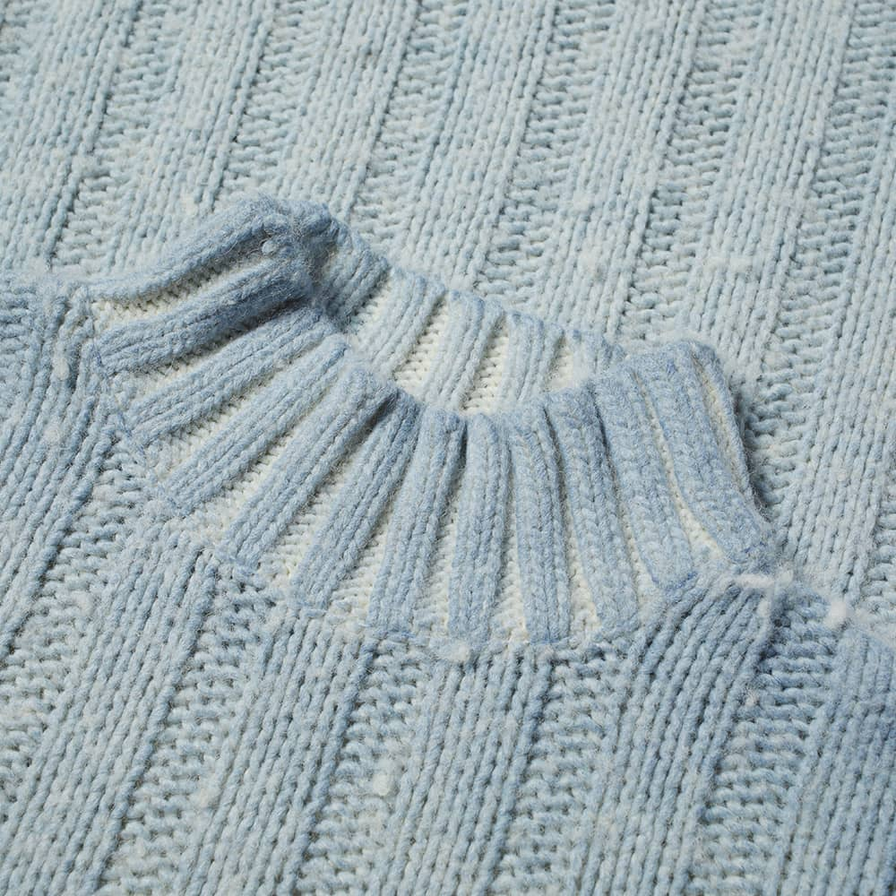 Our Legacy Washed Funnel Neck Knit - Ice Blue