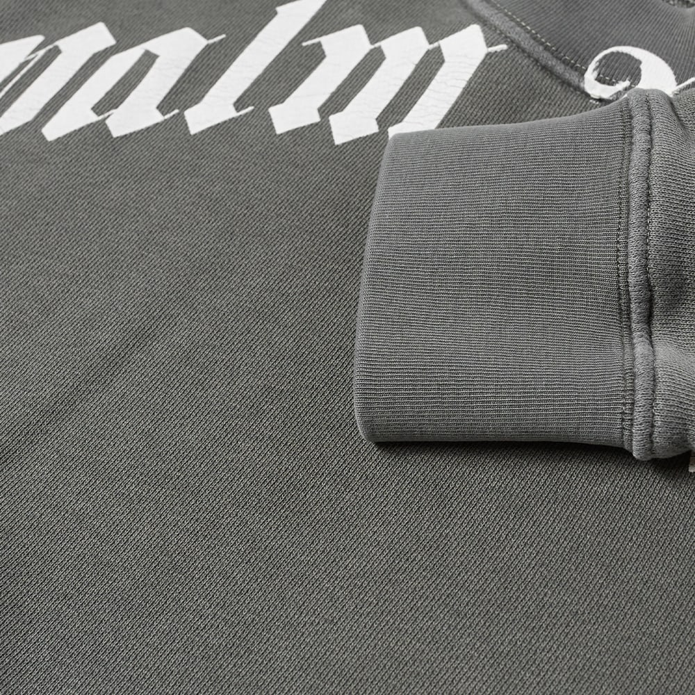 Palm Angels Garment Dyed Curved Logo Crew Sweat - Black & White