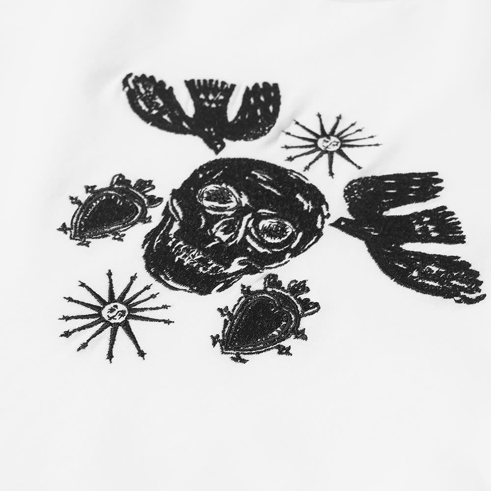 Alexander McQueen Skull Embroidered Tee - White