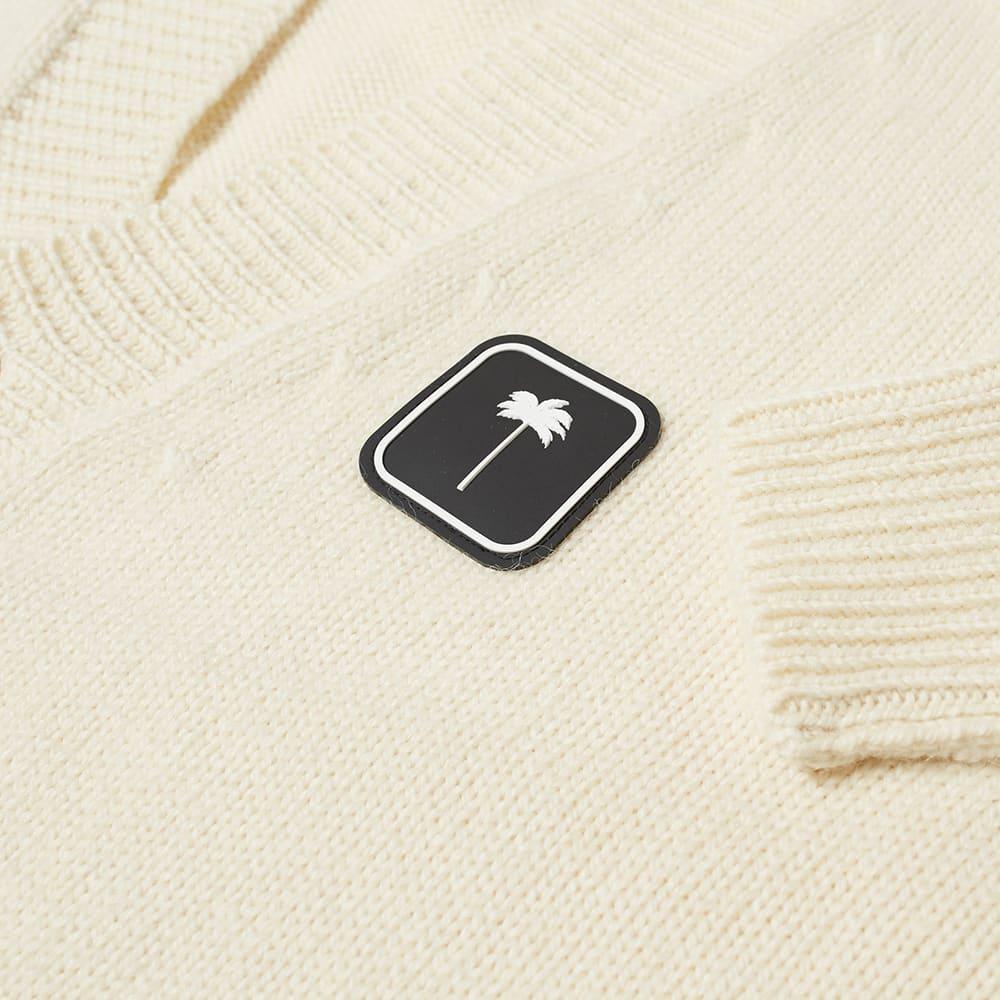 Palm Angels Patch Logo Cardigan - White