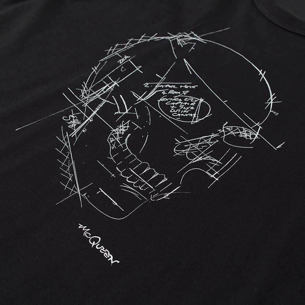Alexander McQueen Sketch Skull Logo Tee - Black & Multi