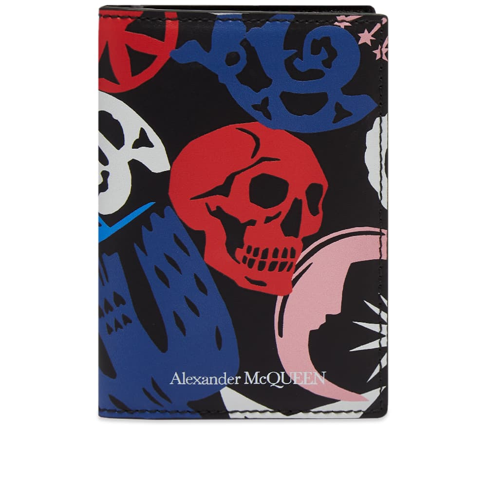 Alexander McQueen Graffiti Small Fold Wallet - Multi