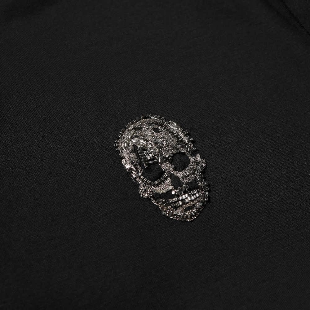 Alexander McQueen Skull Patch Polo - Black