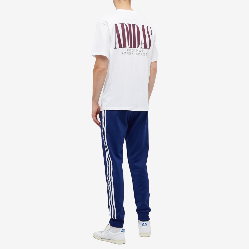 Adidas Trefoil Script Tee - White