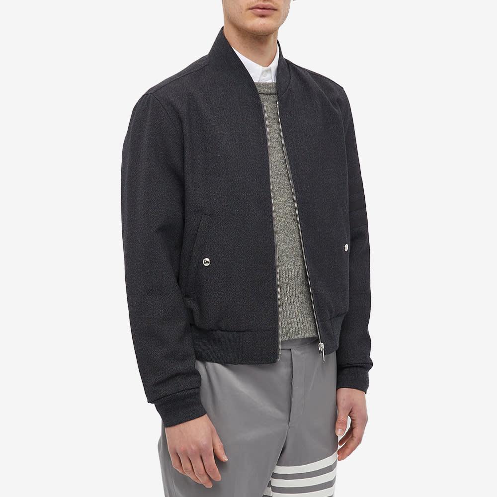 Thom Browne Wool Bomber Jacket - Dark Grey