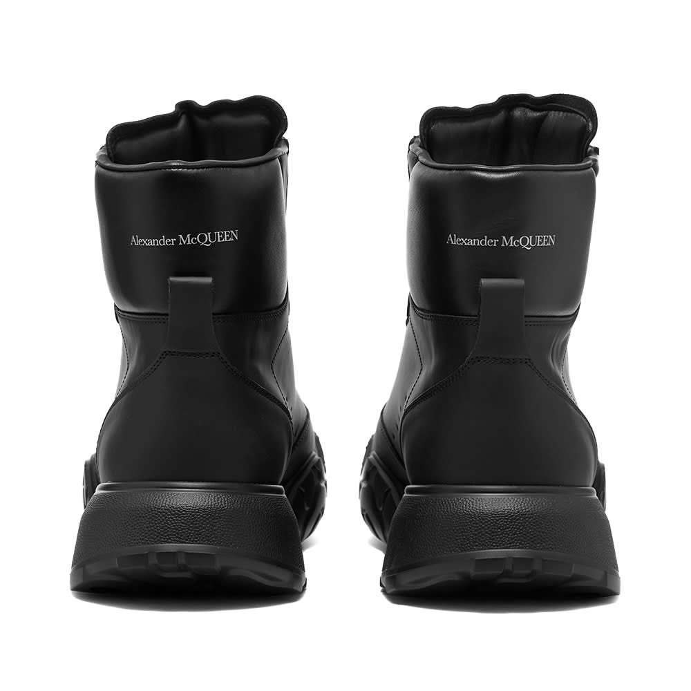 Alexander McQueen Court Mid Nappa Leather - Black