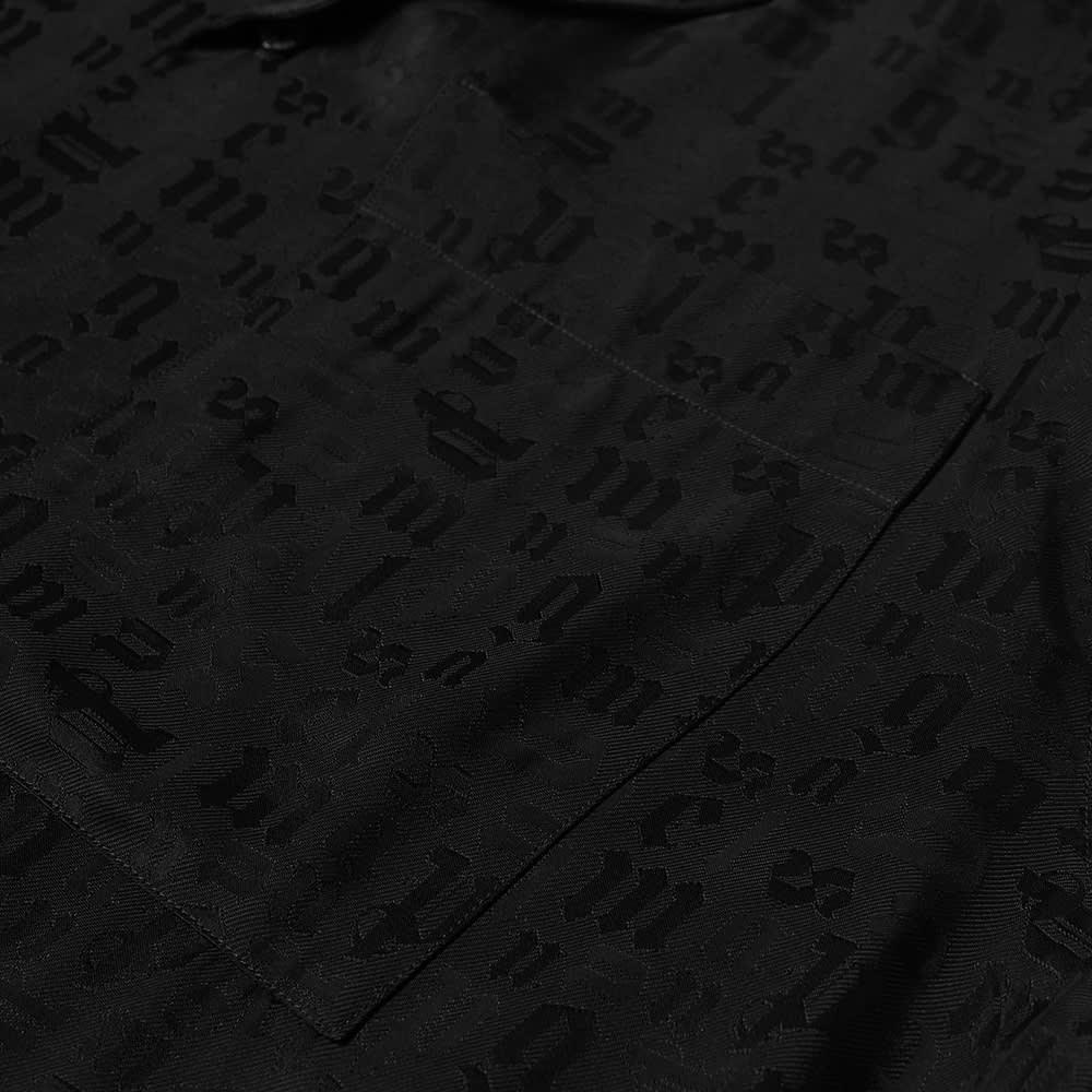 Palm Angels Tonal Monogram Vacation Shirt - Black