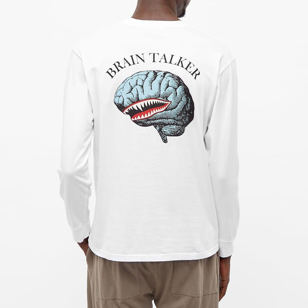 Undercover Long Sleeve Brain Talker Tee - White