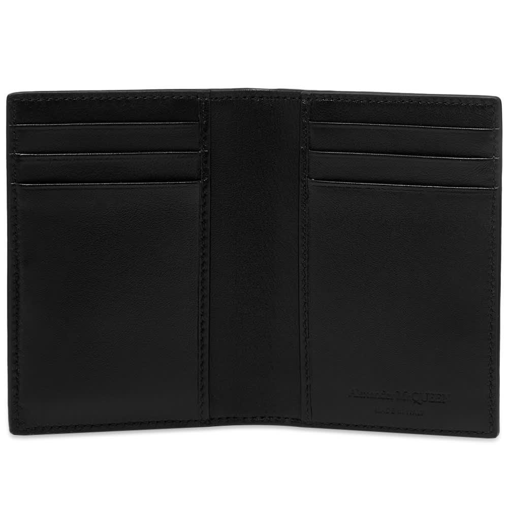 Alexander McQueen Skull Small Fold Wallet - Black & Lust Red