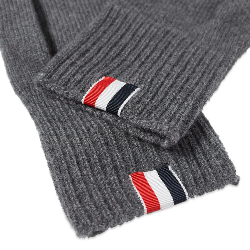 Thom Browne Intarsia Stripe Merino Glove - Medium Grey