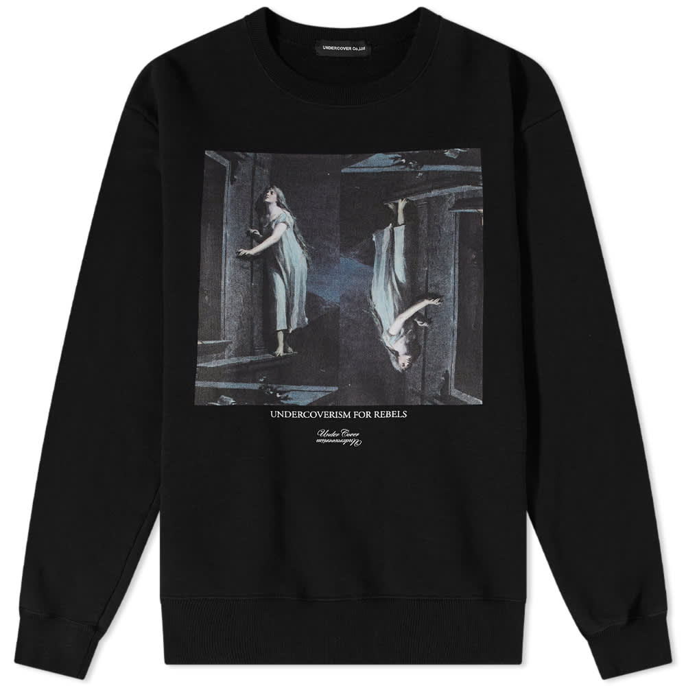 Undercover Undercoverism For Rebels Print Crew Sweat - Black