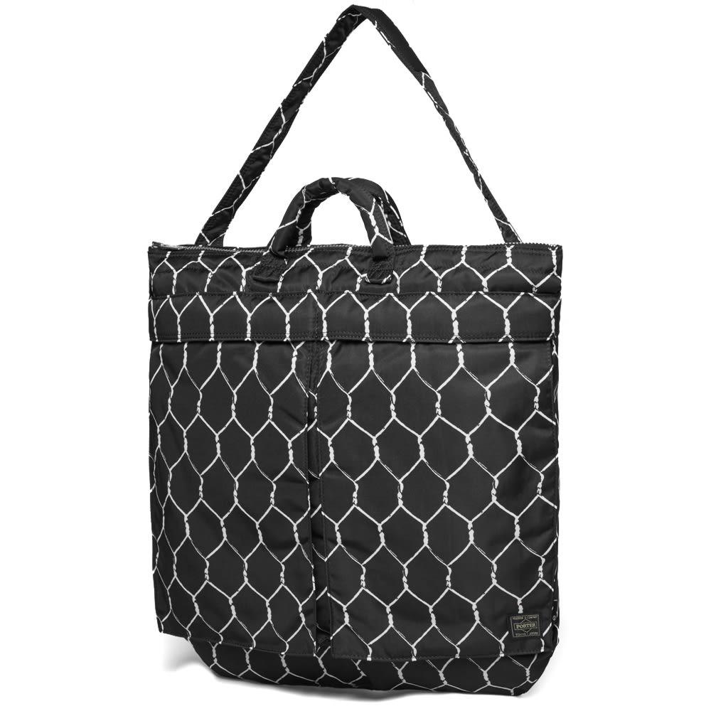 Undercover x Porter Fence Print Helmet Bag - Black