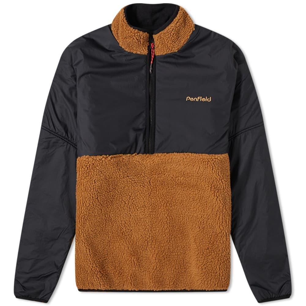 Penfield Therma Half Zip Fleece - Tan Brown