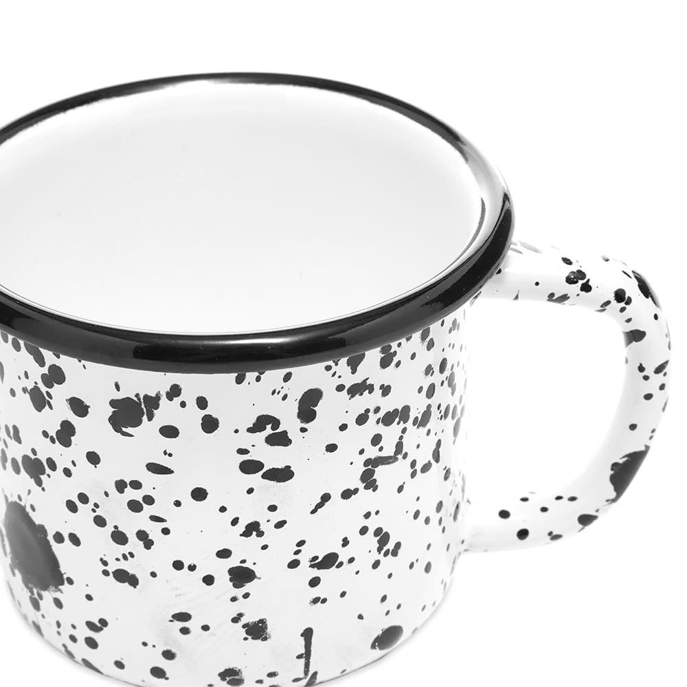 BORNN Enamelware Mediterranean Large Mug - Black & White