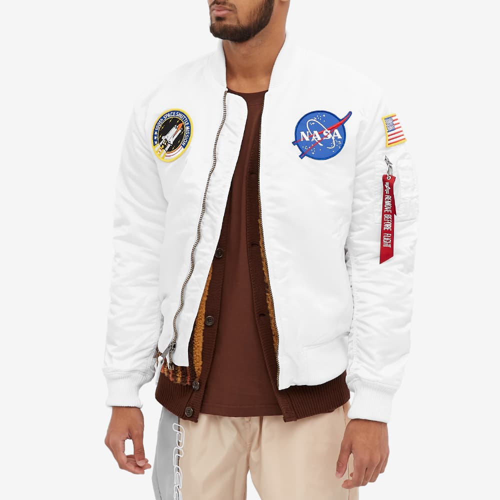 Alpha Industries MA-1 VF NASA Jacket - White