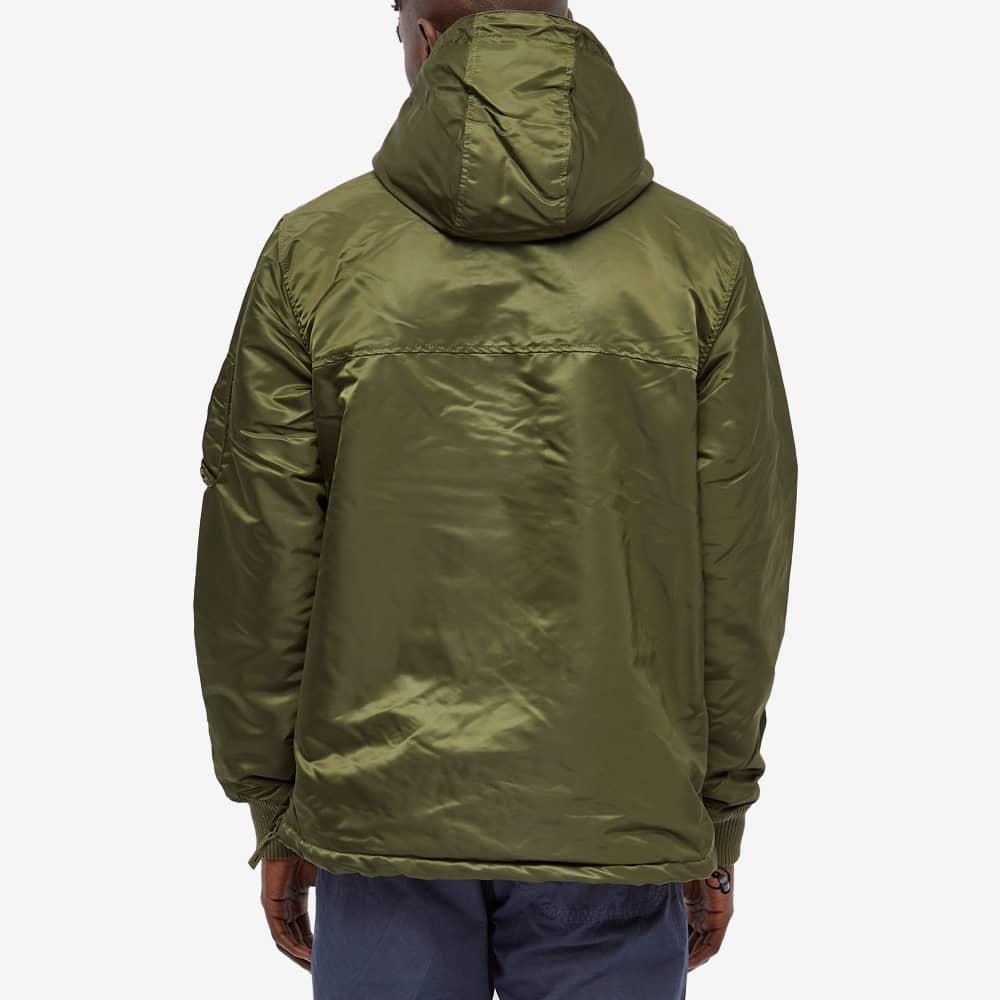 Alpha Industries Hooded Popover Anorak - Dark Green