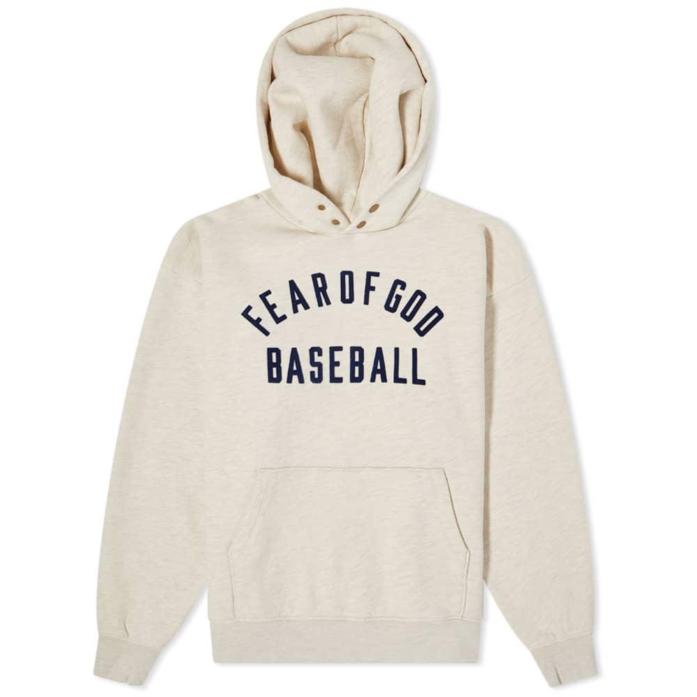 Fear of God Baseball Hoody - Cream Heather