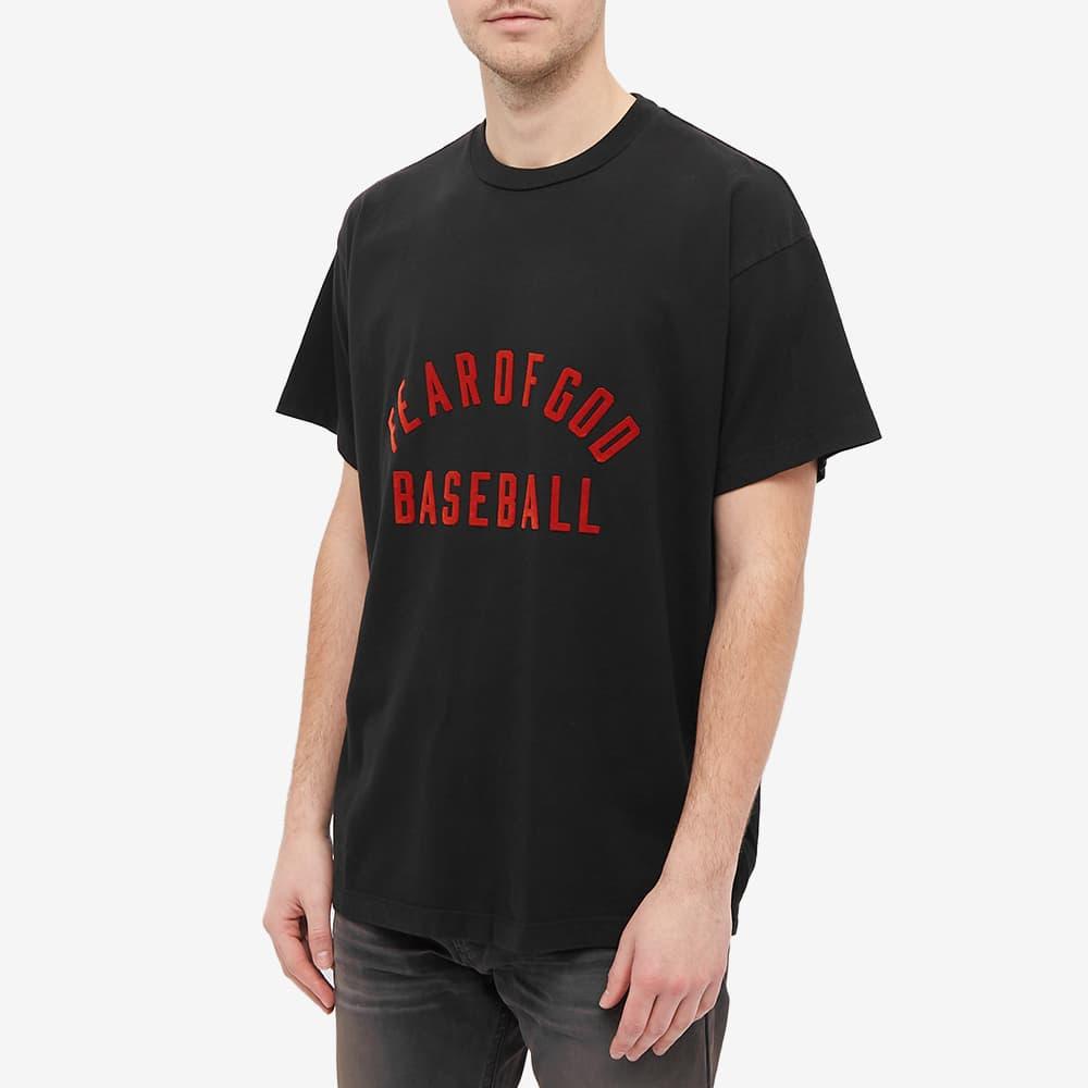 Fear of God Baseball Tee - Vintage Black & Red