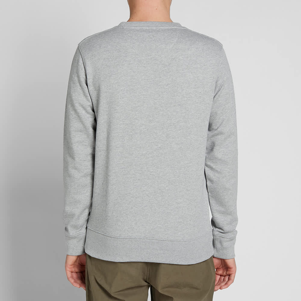 Saturdays NYC Bowery Embroidered Miller Standard Sweat - Ash Heather