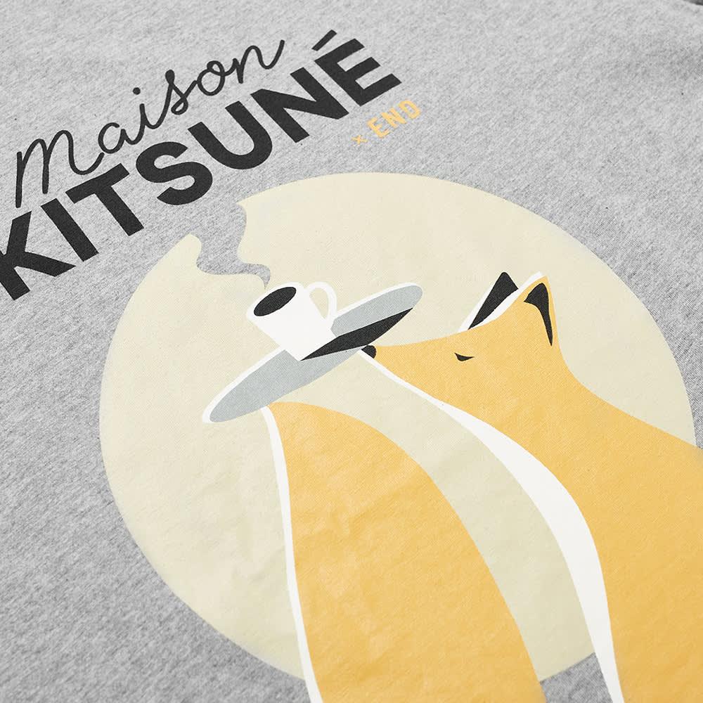 END. x Maison Kitsuné Cafe Club Tee - Grey Melange